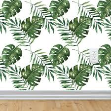 Palm Leaf Manuscript Interior Design Services Wall Decal Wallpaper Mural Tropical Leaves Transparent Png