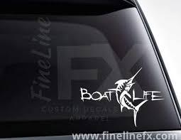 Boat Life Swordfish Vinyl Decal Sticker