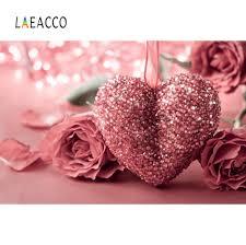 Laeacco سعيد عيد الحب وردة حمراء منقطة ضوء خوخه حفلة طفل طفل صور