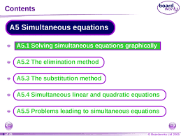 simultaneous equations ks4