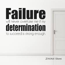 Determination Wall Sticker Inspirational Quote Wall Decal School Office Decor Failure Text Art Stickers Wallpaper Bedroom The Wall Stickers Tinkerbell Wall Stickers From Joystickers 11 75 Dhgate Com