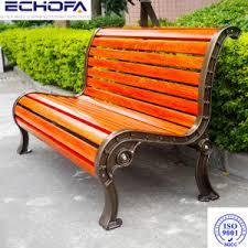 garden bench chair with cast iron legs