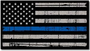 Amazon Com Itsaskin1 Thin Blue Line Police Distressed American Flag Sticker Decal Blue Lives Matter Large 8 Sticker Made In The U S A Automotive