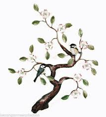 Wall Art Chickadees In Flowering Dogwood Tree Metal Wall Sculpture For Sale Online