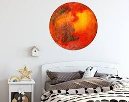 Planet Jupiter Watercolor Wall Decal Sticker Solar System Etsy