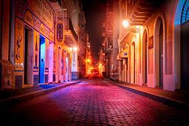 city street during night san juan hd