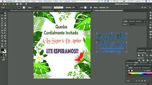 Como Descargar Y Editar Una Tarjeta De Invitacion