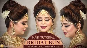 easy bridal bun hairstyle tutorial