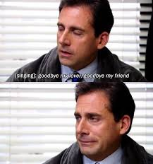 listening to the same clip over and over and over the office