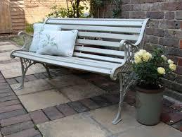 vintage antique style garden bench