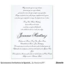 Quinceanera Invitations In Spanish 4 25 X 5 5 Zazzle Com
