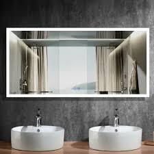 led bathroom mirror with anti fog