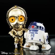 Qドロイド スター・ウォーズ C-3PO&R2-D2 映画公開記念 メッキカラー ...