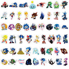 50pcs 100pcs Sonic Stickers Toys Sonic Shadow Amy Rose Knuckles Tails Do Not Repeat Car Motorcycle Pull Bar Box Cartoon Sticker Aliexpress