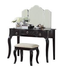 tri fold mirror makeup vanity set