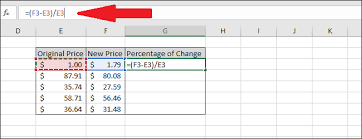 difference between values in excel