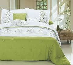 green and white comforter set