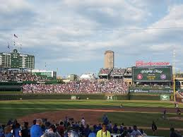 wrigley field bleachers baseball