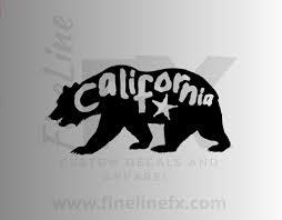 California Bear Vinyl Decal Sticker