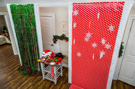 diy holiday photo booth home family