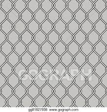 Vector Art Chain Link Fence Clipart Drawing Gg81827938 Gograph
