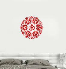 Vinyl Decal Om Mantra Sanskrit Bedroom Talisman Meditation Wall Stickers 082ig Ebay