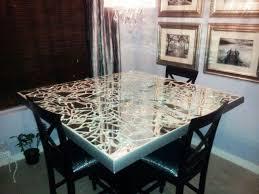 diy broken mirror dining table top i