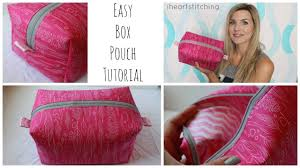 easy zippered box pouch tutorial you