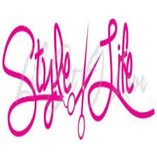 Avery Style Life Vinyl Decal With Scissors Cosmetology Hair Stylist Hair Beauty Salon Hot Pink