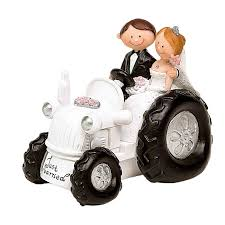 Figura Boda Tractor Detalles Para Bodas Comuniones Bautizos Y Celebraciones