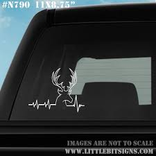 Hunting Ekg Decal Deer Heartbeat Decal Deer Hunter Gift Car Etsy