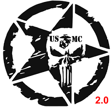Usmc Star Punisher 2 0 Military Marine Car Decal Sticker Vinyl Semper Fi In 2020 Military Stickers Car Decals Stickers Car Decals