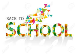 Colorful Back To School Isolated Text, Transparent Triangles ...