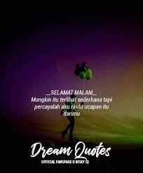 dream quotes malam facebook