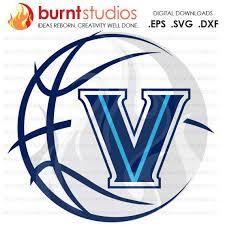 Digital File Villanova Logo With Basketball Ncaa Villanova Wildcats Villanova University Svg Png Dxf Eps File Burnt Studios Villanova Logo Villanova Logos