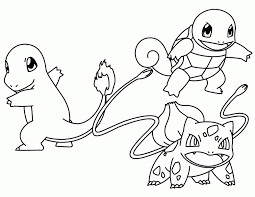 Squirtle Pokemon Coloring Pages Charmander