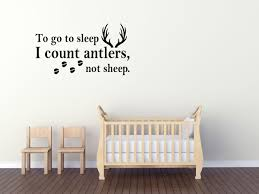 Wall Decal Quote To Go To Sleep I Count Antlers Not Sheep Wall Decal Gd26 Prathipaksham In