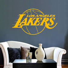 Basketball Los Angeles Lakers Wall Sticker Art Decoration Living Room Kids Room Bedroom Decor Murals Lebron Ja Sticker Wall Art Living Room Decor Bedroom Decor