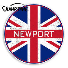 Jump Time Newport England Vinyl Stickers Uk Flag Sticker Luggagewaterproof Car Decal Trunk Car Accessories Car Stickers Aliexpress