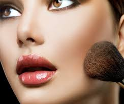 makeup applying beautiful fashion