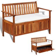 vidaxl solid acacia wood garden storage