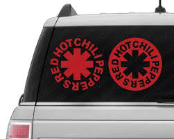 Red Hot Chili Peppers Vinyl Decal Chili Peppers Decal Window Decal Window Sticker Vinyl Decals Custom Vinyl Stickers Vinyl