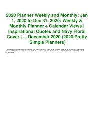 ebook planner weekly and monthly jan to dec