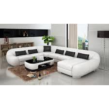 white modern leather sofa set 7 seater