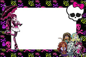 Monster High Invitaciones Para Imprimir Gratis With Images