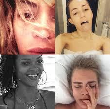 celebrity no makeup selfies cancer