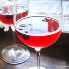 pomegranate and blueberry wine