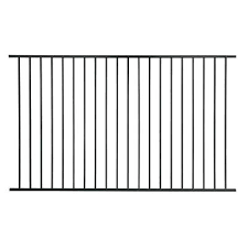 Us Door Fence Pro Series 4 84 Ft H X 7 75 Ft W Black Steel Fence Panel F2ghds93x58us The Home Depot