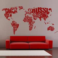 World Map Countries Of The World Vinyl Sticker Cutzz