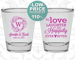 wedding favors custom shot glasses